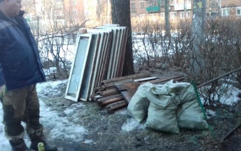 картинка мусор после монтажа окон