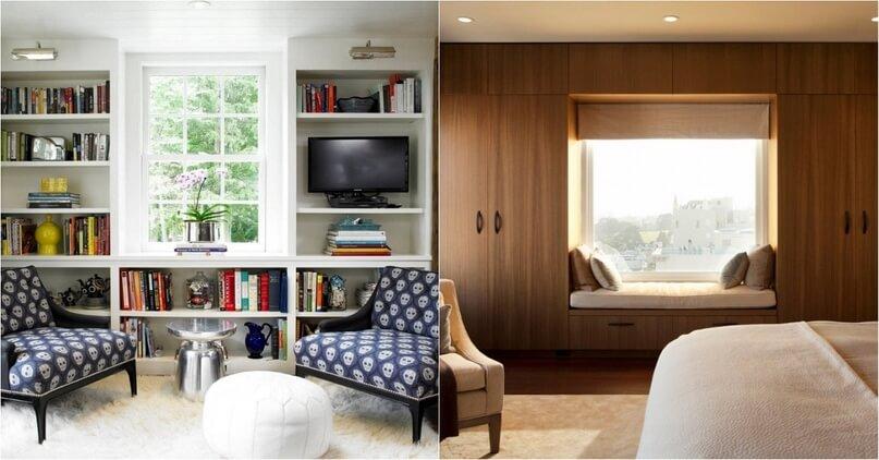 картинка комбинация мебели возле окна