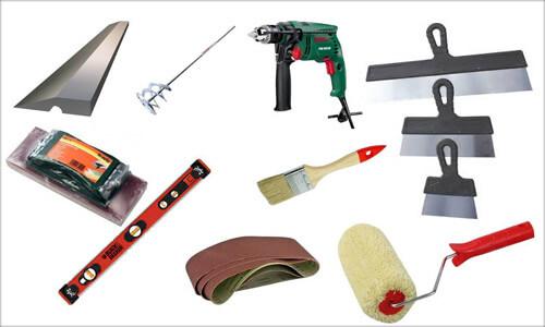 картинка инструменты для шпаклевки
