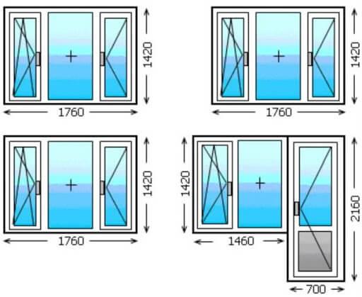 картинка размеры окон в хрущевке