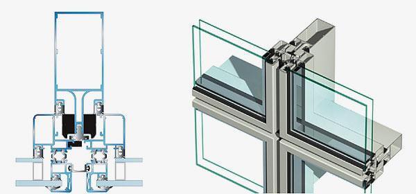 картинка полу-структурное остекление