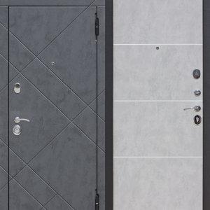 Входные двери Донецк: 9 см БРУКЛИН Бетон графит / Бетон пепельный