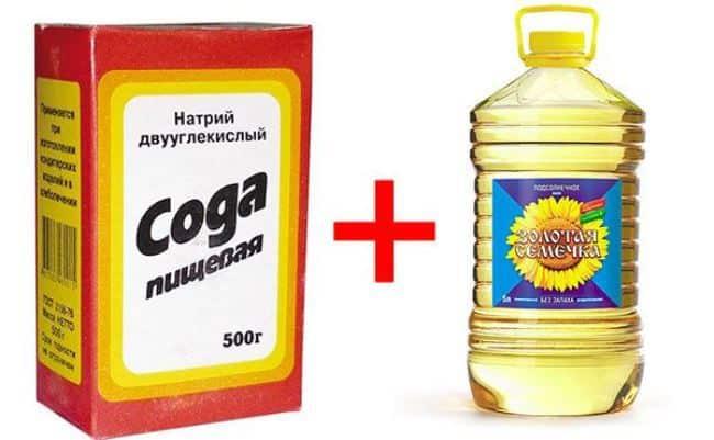 картинка сода и масло