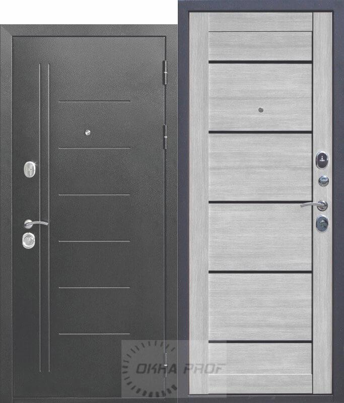 Входные двери Донецк: 10см Троя Серебро Дымчатый дуб