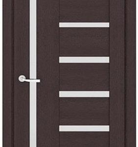 Межкомнатные двери Петровские серия ЭКО 7С Евро Лиственница темная