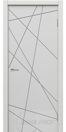 Межкомнатные двери Дера серия Лайн 534 бетон светлый
