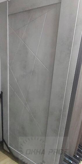 Межкомнатные двери Дера серия Лайн 534 бетон светлый 001