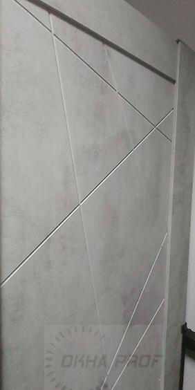 Межкомнатные двери Дера серия Лайн 534 бетон светлый 003