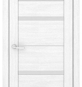 Межкомнатные двери Петровские серия Массив Б5 Белый остекление зеркало