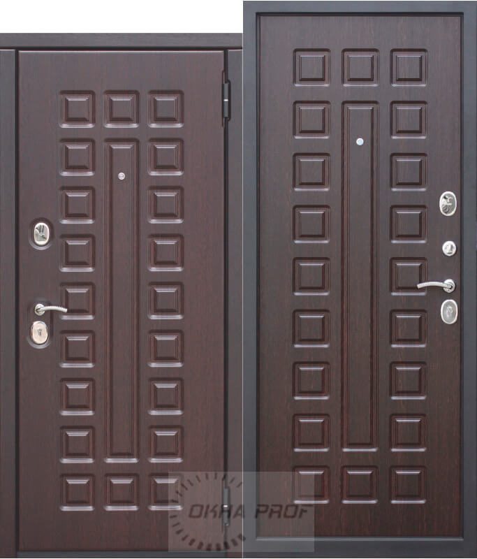 Входные двери Донецк: 10 см Монарх (МДФ/МДФ) Венге