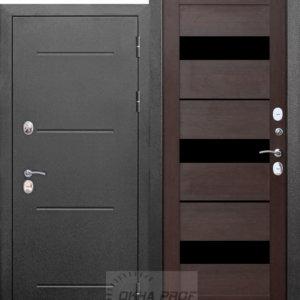 Входные двери ДНР: 11 см ISOTERMA Серебро царга Темный кипарис