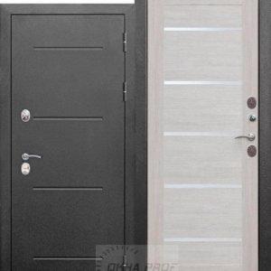 Входные двери Донецк: 11 см ISOTERMA Серебро царга Лиственница беж