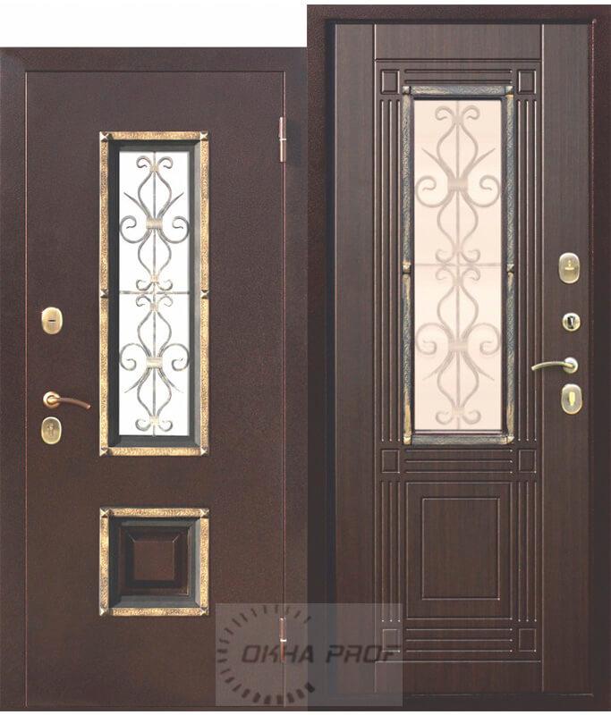 Входные двери Донецк: 8 см Венеция Венге