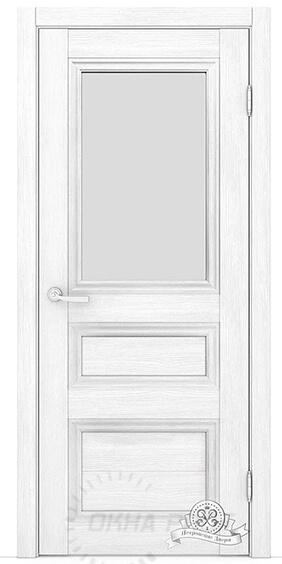 Межкомнатные двери Петровские серия Массив К6 Белый (стекло ромб)