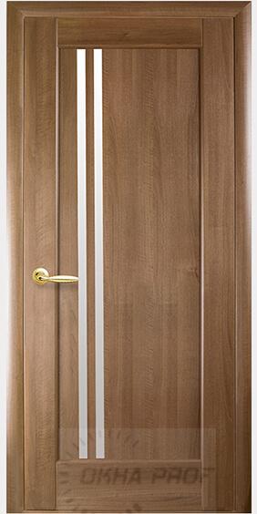 """Межкомнатные двери """"Новый стиль"""" Ностра Делла, золотая ольха со стеклом сатин"""