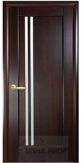 """Межкомнатные двери """"Новый стиль"""" Ностра Делла, каштан со стеклом сатин"""