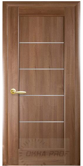 """Межкомнатные двери """"Новый стиль"""" Ностра Мира, золотая ольха со стеклом сатин"""