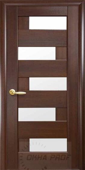 """Межкомнатные двери """"Новый стиль"""" Ностра Пиана, каштан со стеклом сатин"""