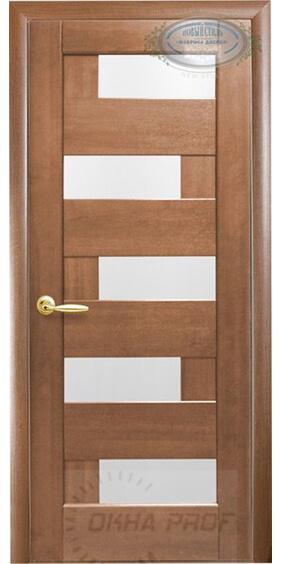 """Межкомнатные двери """"Новый стиль"""" Ностра Пиана, золотая ольха со стеклом сатин"""