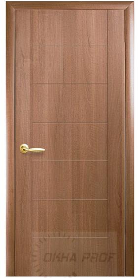 """Межкомнатные двери """"Новый стиль"""" ПВХ Deluxe Plus Рина, золотая ольха"""