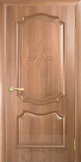 """Межкомнатные двери """"Новый стиль"""" Интера Рока, золотая ольха глухое с гравировкой"""